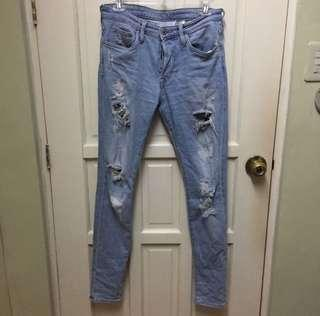 H&M Tattered Skinny Jeans