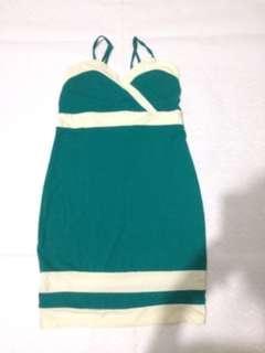Dress hijau tanktop press body