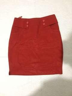 Skirt rok kerja wanita merah