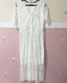 Dress midi putih