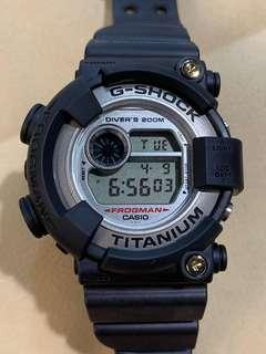 已換GF-8250BS原裝新殼帶 非原色 中古 二手 G-Shock Frogman DW-8200NK-2 DW8200 蛙人 潛水錶 鈦金屬