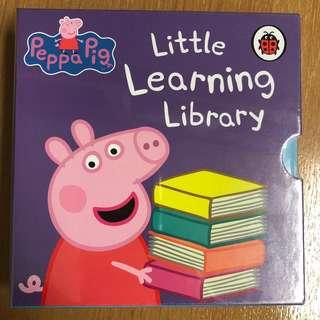 (New)一套四本 Peppa Pig Little Learning Library