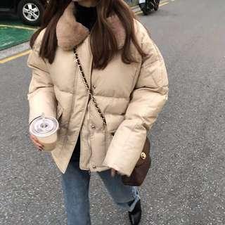 🚚 毛領冬天棉服外套大衣短款厚外套