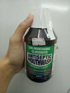 全新antiseptic mouthwash漱口水peppermint favor