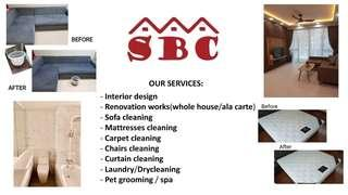 Sofas, mattresses, carpets, chairs cleaning