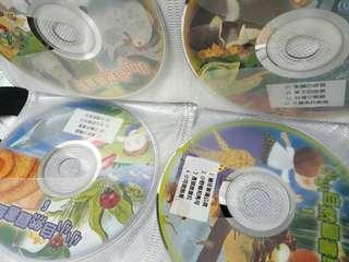 10片小小自然圖書館昆蟲動物植物故事光碟CD