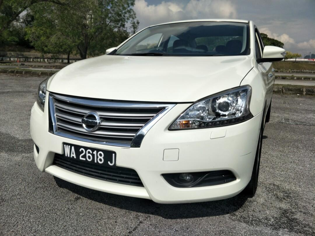 2014 NISSAN SYLPHY 1.8 VL (A) WELL MAINTAIN, PUSH START, REVERSE CAMERA, LEATHER SEAT (JUST BUY & DRIVE)