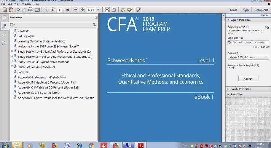 2019 CFA Level 1-3 Kaplan Schweser Notes