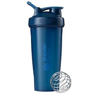 🇺🇸Blender Bottle Classic with loop shaker bottle 28 oz Navy blue美國熱銷Blender Bottle Classic多功能運動水壺 乳清蛋白搖搖杯 海軍藍 840ml