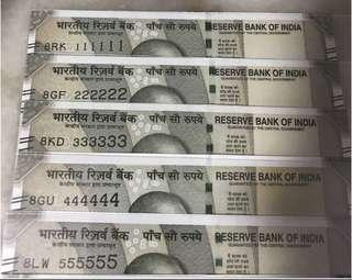 (8xx111111 to 8xx999999 and 8xx1000000) profit '8'  Super Solid And Solid no new indian 500 Rupees Note Set