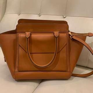 Charles & Keith Handbag Brown Leather