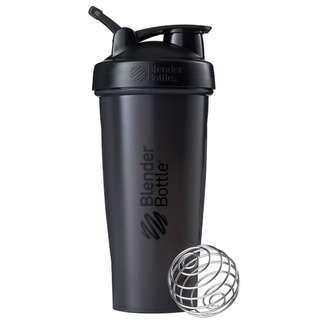 🇺🇸Blender Bottle Classic with loop shaker bottle 28 oz Black美國熱銷Blender Bottle Classic多功能運動水壺 乳清蛋白搖搖杯 酷炫黑 840ml