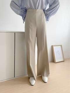 Room4側拉鍊米白褲