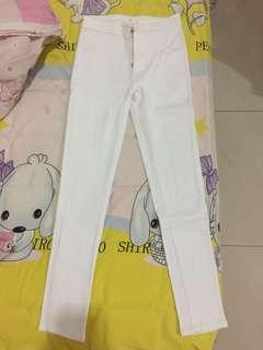 cotton white highwaist jeans