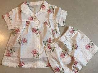 The little white company Matilda floral pyjama 3-4 yrs
