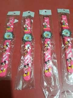 Mickey Mouse & Minnie Mouse Kiddie Wrist Watch