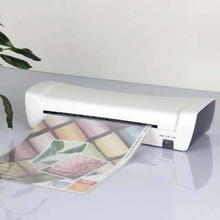 Hot & Cold Thermal Laminator Laminating Machine With 2 Rollers For A4