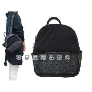 ~雪黛屋~COUNT 後背包超小型容量主袋+外袋共四層進口防水尼龍布+皮革材質二層主袋BCD50002501160