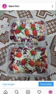 Salad buah, Oreo & Strawberry Cheesecake
