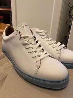 🚚 出清‼️👟Seleted 葡萄牙製手工藍底小白鞋