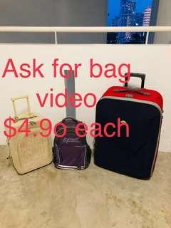 $4.90 usable bag luggage travel suitcase spine backpack