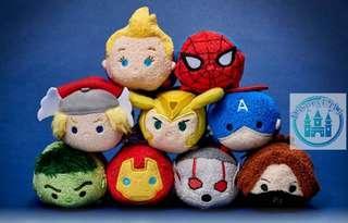 🇯🇵JP disneystore marvel avengers 4 tsum tsum 又黎tsum tsum喇😍 之前買唔齊marvel 系列嘅今次係機會喇😏😏 仲有captain marvel !