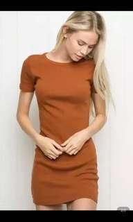 🚚 歐美螺紋彈力連身裙