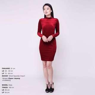 Dress velvet red