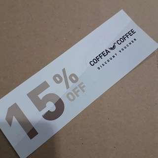 Coffea Coffee 15% Off discount voucher ioi city mall