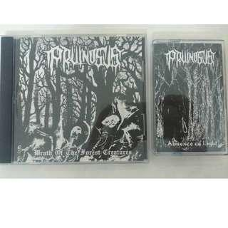 Pruinosus -'Wrath of the Forest Creatures'CD+'Absence of Light' Cac Combo