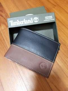 Brand new with tag in box original Timberland men leather wallet 2 colour tone