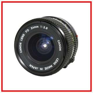 [Exc+] Canon FD 24mm F2.8 Manual Wide Angle Lens (Canon FD Mount) #EndgameYourExcess