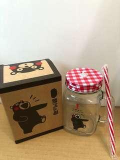 🚚 全新~熊本熊梅森杯。附吸管