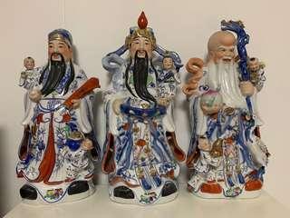 🚚 Fu Lu Shou Figurines 福禄寿