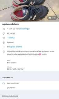 TURUN HARGAA SEPATU NEW BALANCE