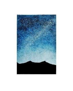 Watercolour galaxies / auroras / starry night