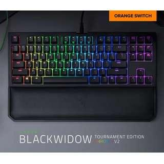 BNIB Razer BlackWidow Tournament Edition Chroma V2 Mechanical Keyboard (Orange Switch)