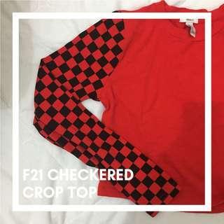 F21 checkered crop top