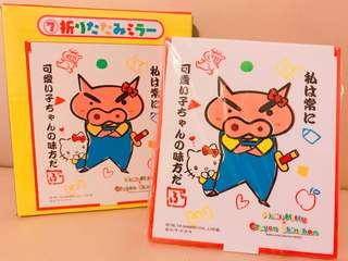 Hello kitty x crayon shinchan 小新 化妝鏡