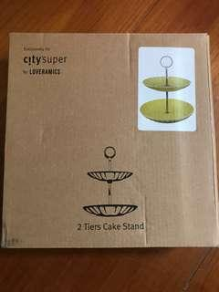 City super 黃色兩層 蛋糕架