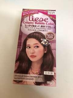 全新 Liese 泡泡染髮劑 紅茶啡色
