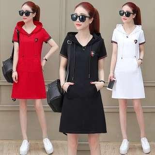 🚚 F81091 大碼時尚連衣裙(3色)