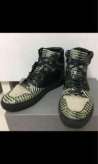 Balenciaga mid cut zebra patchwork leather sneakers [Made in Italy]