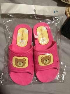廁所浴室 室內防水拖鞋 可愛小熊拖鞋