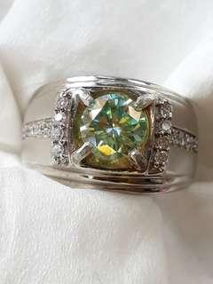 Blu diamond moizanite