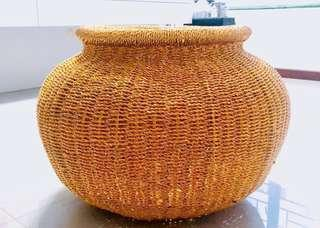 [Moving Out Sale] Gold woven basket