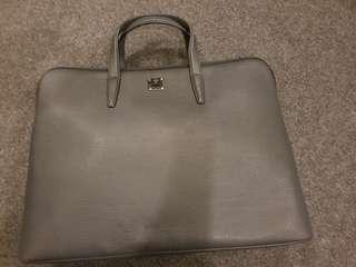 Mcm Authentic black leather brief case