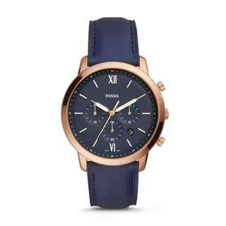 🚚 💥Offer SALES💥Fossil Neutra Chronograph Navy Leather Watch