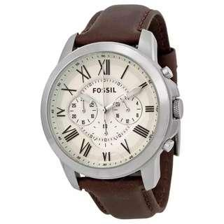 💥Offer SALES💥Fossil Grant Leather Band Chronograph Men Watch
