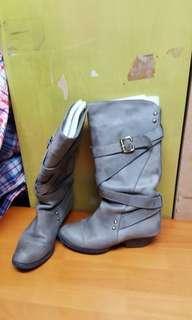2089 日本JJ真皮靴,14吋高筒,1.5吋踭,35碼 $5